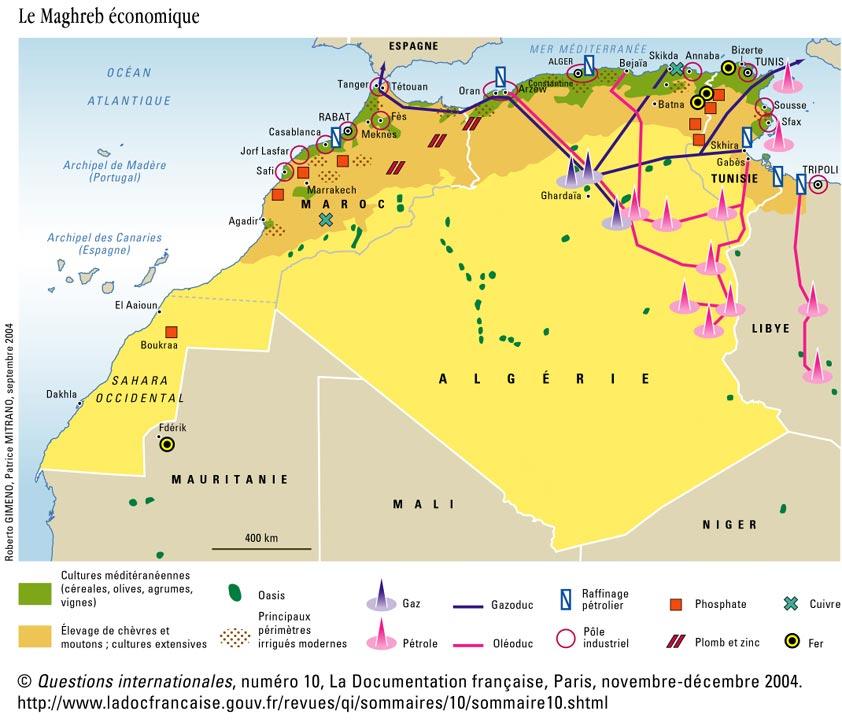 Carte De Lafrique Maghreb.Chap 2 Geo Le Maghreb Cartable De M Orain 6eme 5eme 4eme
