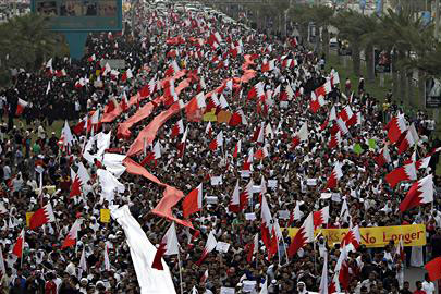 100 000 manifestants au Bahrein