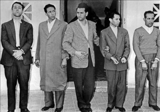 les cinq leaders algériens