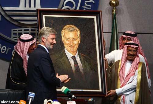 Le Roi belge Philippe lors de sa visite au Royaume de Saoud le 26 octobre 2015
